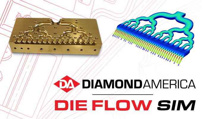 Diamond America die flow simulation